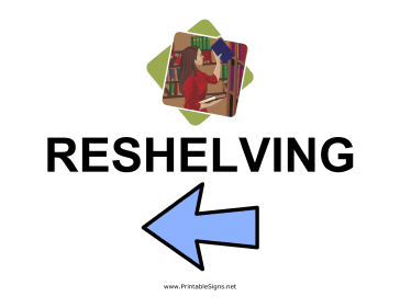 Reshelving - Left Sign