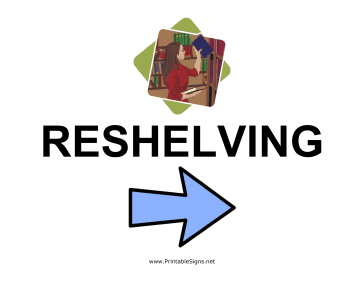 Reshelving - Right Sign