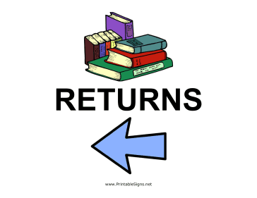 Library Returns - Left Sign