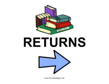 Library Returns - Right Sign