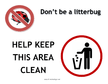 Litter Bug Sign