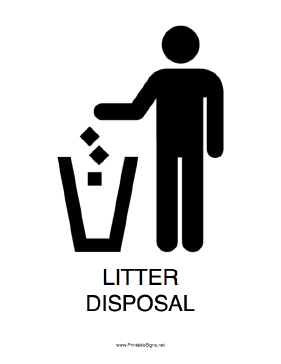 Litter Disposal Sign