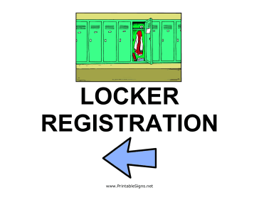 Locker Registration - Left Sign