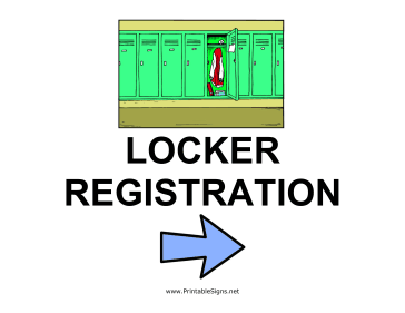 Locker Registration - Right Sign