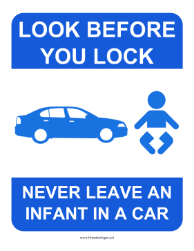 Look Before You Lock Sign