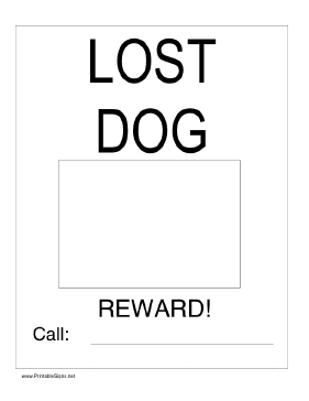Lost Dog with Picture Sign