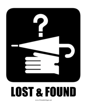 Image result for lost and found sign