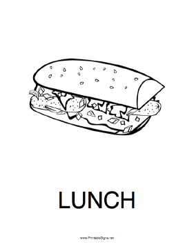 graphic relating to Printable Out to Lunch Sign identified as Printable Lunch Indicator