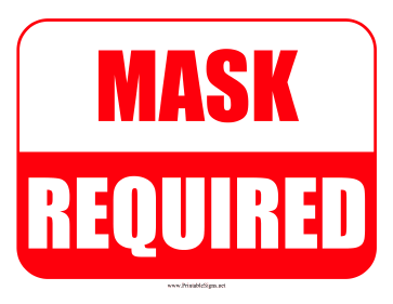 Mask Required Sign