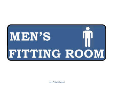 Men Fitting Room Sign