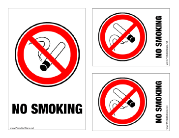 photograph relating to Printable No Smoking Sign titled Printable No Cigarette smoking Indicator