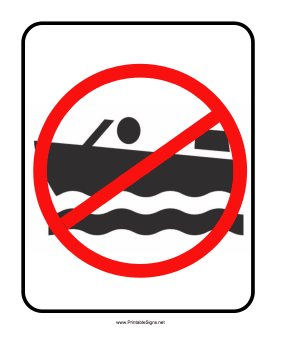 No Boating Sign Sign
