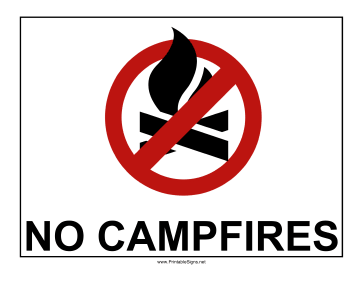 No Campfires Sign