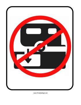 No RV Camping Sign