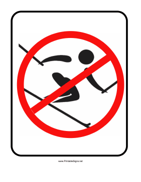 No Skiing Sign Sign