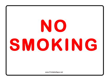 No Smoking Red On White Text Sign