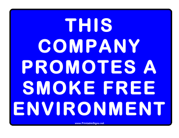 No Smoking Smoke Free Policy Sign