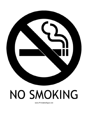 No Smoking with caption Sign