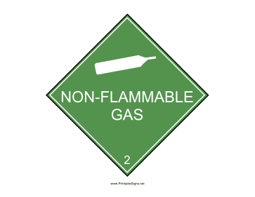 Non-Flammable Gas Sign