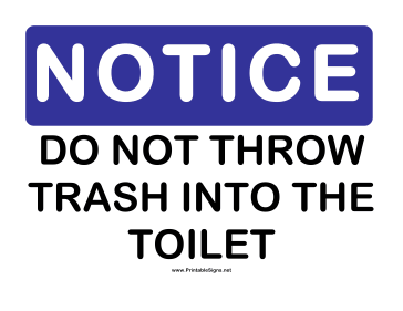 image regarding Trash Sign Printable named Printable Consideration Dont Toss Trash Signal