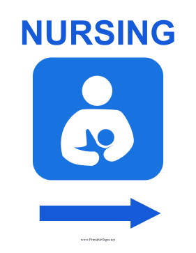 Nursing Room Right Sign