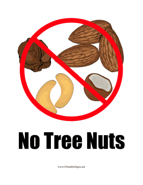 Nut Allergy Sign
