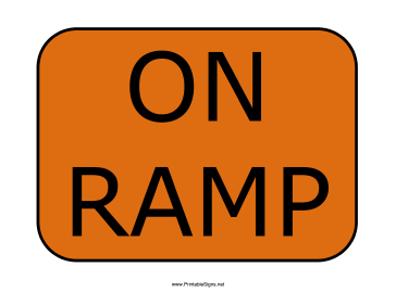 On Ramp Sign
