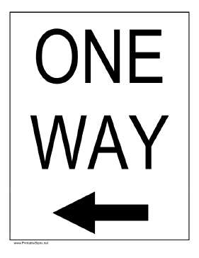 One Way to the Left Sign