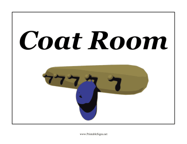 Coat Room Sign