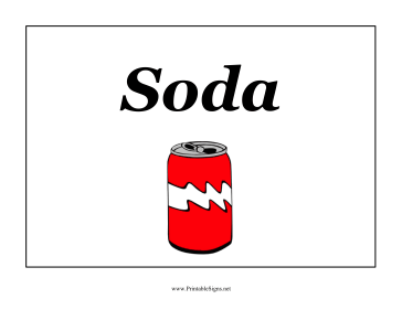 Party Soda Sign