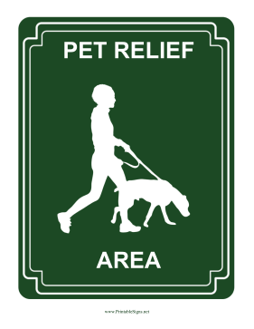 Pet Relief Area Sign