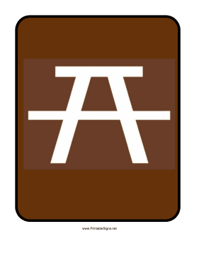 Picnic Table Sign