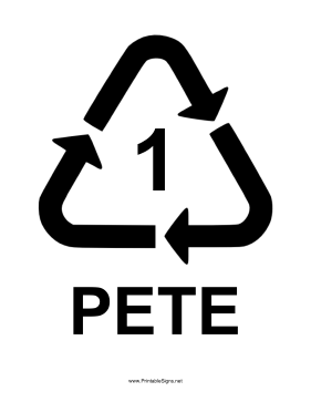 Plastic Type 1 Sign