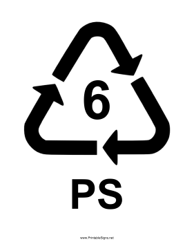 Plastic Type 6 Sign