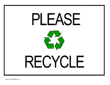 graphic about Recycling Sign Printable named Recycling Signs and symptoms