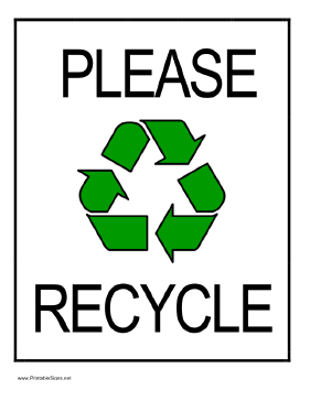 picture relating to Recycle Signs Printable called Recycling Signs or symptoms