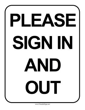 Please Sign In And Out Sign