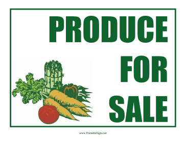 Produce Sign Sign