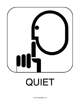 Superb image with printable quiet signs