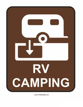 RV Camping Sign Sign