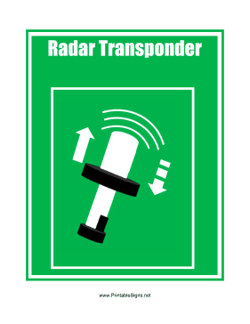 Radar Transponder Sign