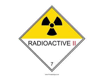 Radioactive II Sign