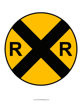 Railroad Ahead Sign