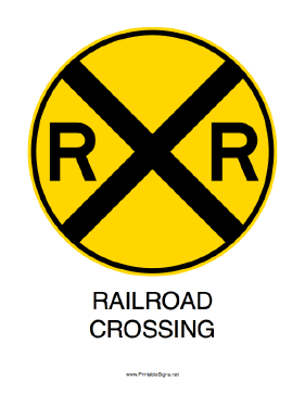 Railroad Crossing-Round Sign