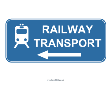 Railway Transport Left Sign Sign