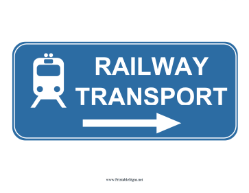 Railway Transport Right Sign Sign