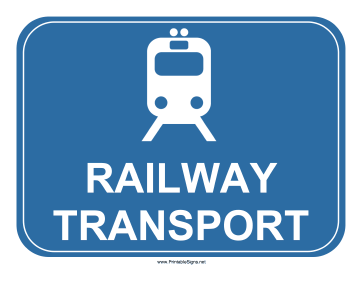 Railway Transport Sign