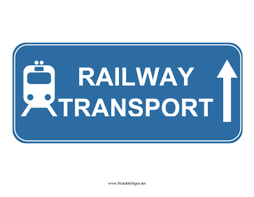 Railway Transport Up Sign