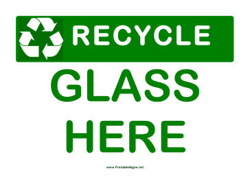 Recyclable Glass Sign