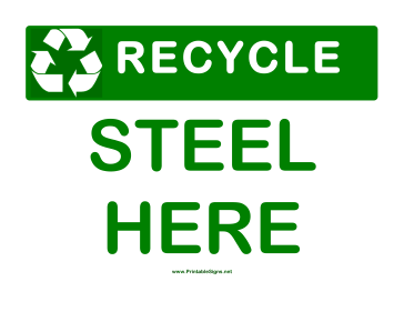 Recyclable Steel Sign